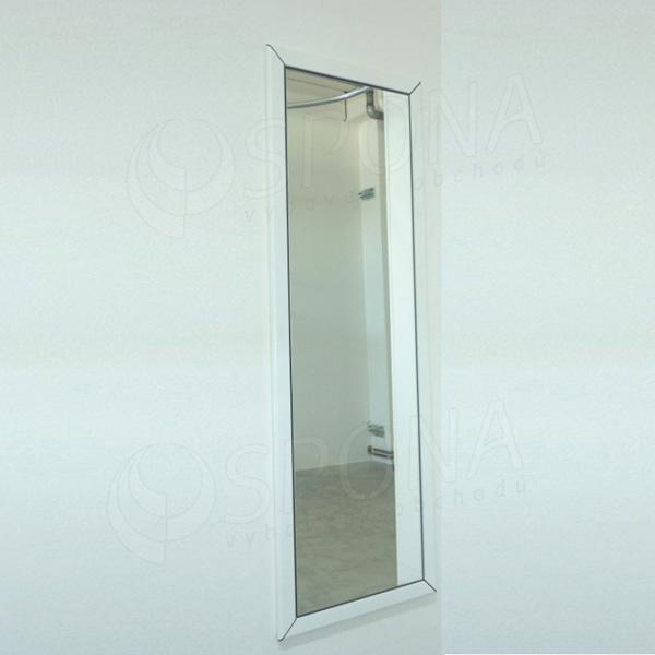 Zrcadlo na zeď v rámu, 160 x 55 cm, barva rámu matná bílá