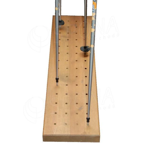 Stojan na lyžařské hůlky, dřevěný, rozměr 1250 x 300 mm