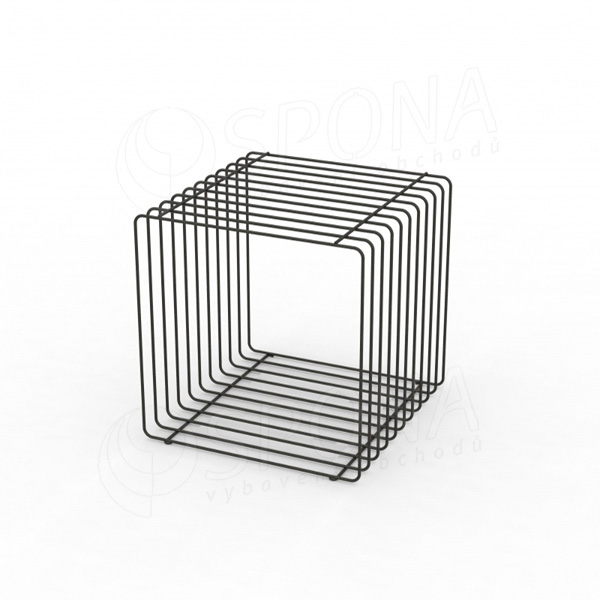 Drátěný element CUBE, 400 mm, matná černá