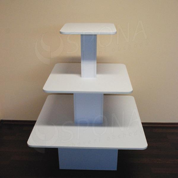 Gondola středová - pyramida P 09/12, boky 90 cm, výška 117 cm, bílá
