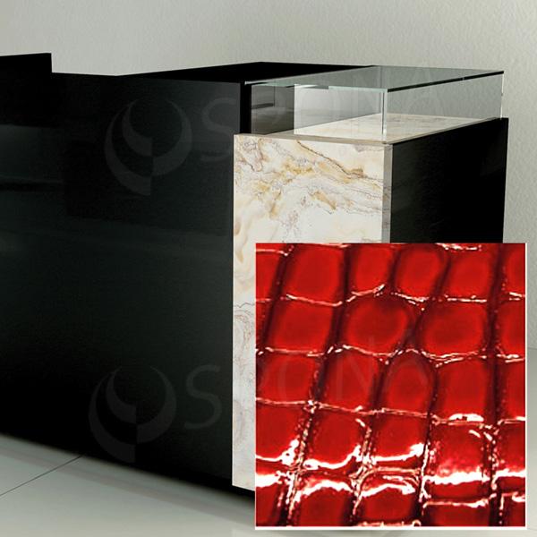 Čelní panel pro prodejní pult UNO, umělá kůže, červená