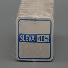 """Visačky SKONTO 45 x 55 mm, pruh """"-10%"""", barevné, 250 ks"""
