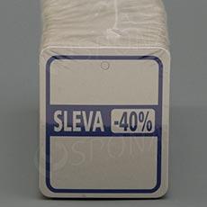 """Visačky SKONTO 45 x 55 mm, pruh """"-40%"""", barevné, 250 ks"""