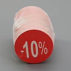 """Visačky SKONTO KRUH 45, """"-10%"""", červené, 180 ks"""