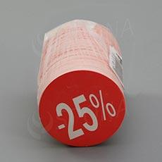"""Visačky SKONTO KRUH 45, """"-25%"""", červené, 180 ks"""