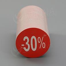 """Visačky SKONTO KRUH 45, """"-30%"""", červené, 180 ks"""