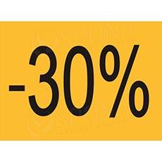 """BANNER SKONTO 650 x 480 mm, """"-30%"""", žlutý, černý tisk, 2 ks"""