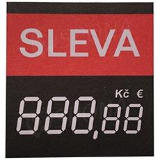 Cenovky 4750 PRUH SLEVA s haléři, 100 ks