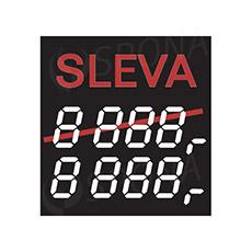 """Cenovky 4750 """"SLEVA"""", 100 ks"""