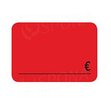Cenovky DREAMER 75 x 52 mm, EUR, červené, 100 ks