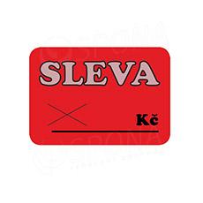 """Cenovky DREAMER 75 x 52 mm, """"SLEVA"""", červené, 100 ks"""