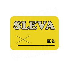 "Cenovky DREAMER 75 x 52 mm, ""SLEVA"", žluté, 100 ks"