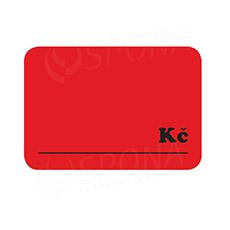 """Cenovky DREAMER 105 x 75 mm, """"Kč"""", červené, 50 ks"""