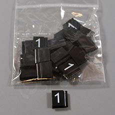 Cenovky Q 6, 8 x 12 mm, náhradní číslo 1, 20 ks