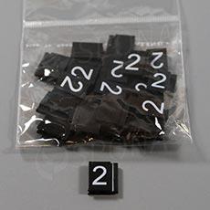 Cenovky Q 6, 8 x 12 mm, náhradní číslo 2, 20 ks