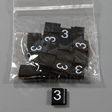 Cenovky Q 6, 8 x 12 mm, náhradní číslo 3, 20 ks