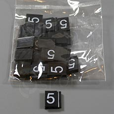 Cenovky Q 6, 8 x 12 mm, náhradní číslo 5, 20 ks