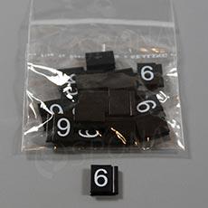 Cenovky Q 6, 8 x 12 mm, náhradní číslo 6, 20 ks