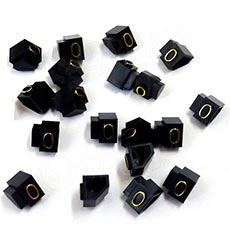 Cenovky Q 2D, 4 x 6 mm, náhradní číslo 0, 20 ks, zlatý prolis