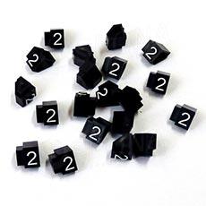 Cenovky Q 2D, 4 x 6 mm, náhradní číslo 2, 20 ks, bílý prolis