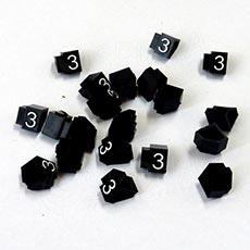 Cenovky Q 2D, 4 x 6 mm, náhradní číslo 3, 20 ks, bílý prolis
