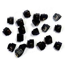 Cenovky Q 3D, 6 x 9 mm, náhradní číslo 3, 20 ks, zlatý prolis