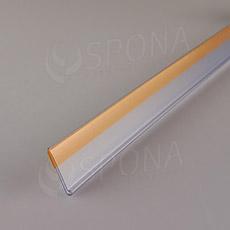 Cenovková lišta čelní 30 x 1250 mm, samolepicí, transparentní