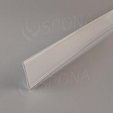 Cenovková lišta čelní 40 mm, 1 metr, samolepící, bílá