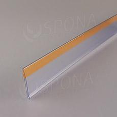 Cenovková lišta čelní 40 mm, 1 metr, samolepící, transparentní