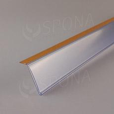 Cenovková lišta 40 x 997 mm, sklon 15 stupňů, samolepící, transparentní