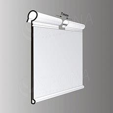 Cenovková lišta na drát 39 x 90 mm, transparentní