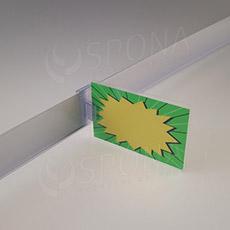 Držák cenovky na cenovkovou lištu do 3 mm, transparentní plast
