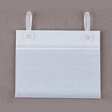 Cenovková lišta 40 x 80 mm závěsná s úchyty, bílá