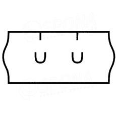 Etikety do kleští, UNI 26 x 12 mm, bílé