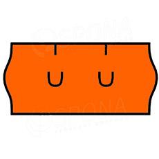 Etikety do kleští, UNI 26 x 12 mm, oranžové