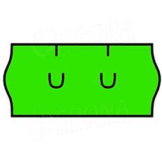 Etikety do kleští, UNI 26 x 12 mm, zelené