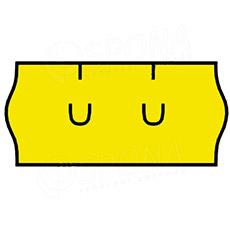 Etikety do kleští, UNI 26 x 12 mm, žluté