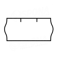 Etikety do kleští, CONTACT 26 x 12 mm, bílé