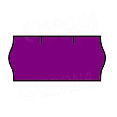 Etikety do kleští CONTACT, zaoblené, 26 x 12 mm, fialové