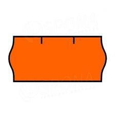 Etikety do kleští CONTACT, zaoblené, 26 x 12 mm, oranžové