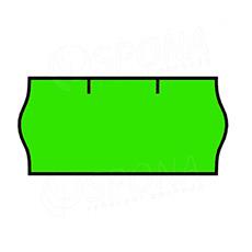 Etikety do kleští CONTACT, zaoblené, 26 x 12 mm, zelené