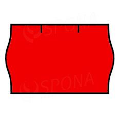 Etikety do kleští, CONTACT 25 x 16 mm, kulaté, červené