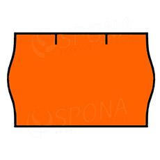 Etikety do kleští, CONTACT 25 x 16 mm, kulaté, oranžové
