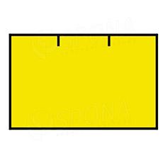 Etikety do kleští, CONTACT 25 x 16 mm, rovné, žluté