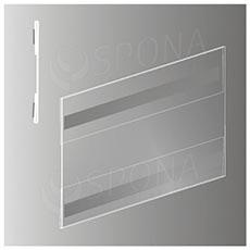 Magnetická plakátová kapsa typ C horizontální, formát A5, antireflexní PVC