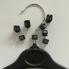 Minireitery 30, 25 ks, černé, stříbrný tisk