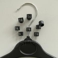 Minireitery 74, 25 ks, černé, stříbrný tisk