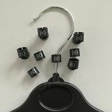 Minireitery 80, 25 ks, černé, stříbrný tisk