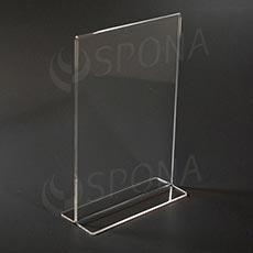 Akrylátový I stojánek A5, na výšku, 148 x 210 mm