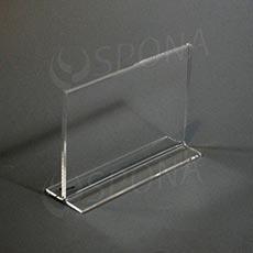 Akrylátový I stojánek A6, na šířku, 148 x 105 mm